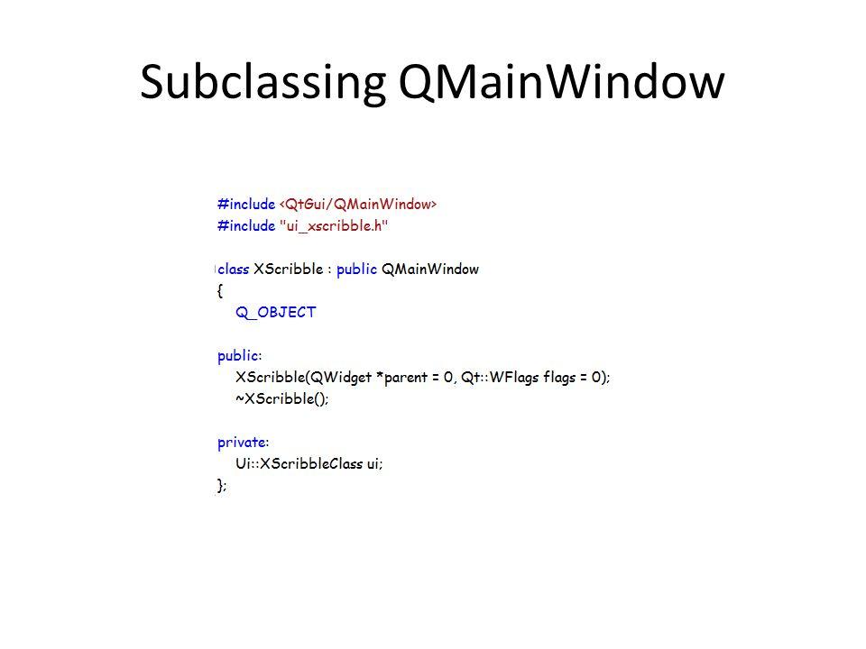 Subclassing QMainWindow