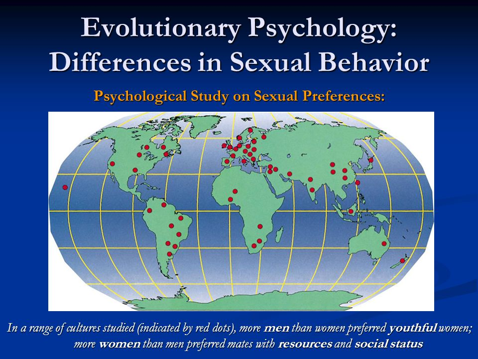 Evolutionary Psychology: Differences in Sexual Behavior