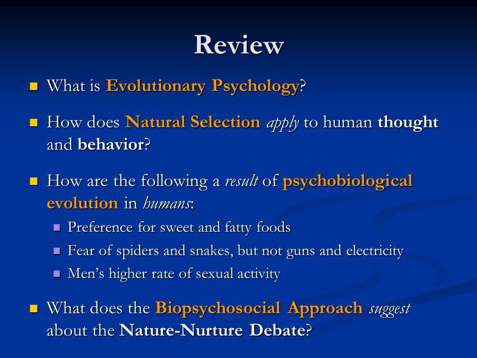 Review What is Evolutionary Psychology
