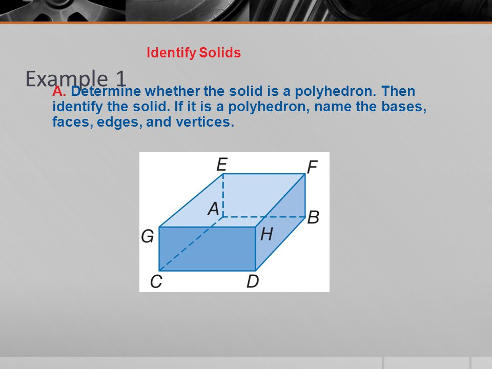Identify Solids Example 1.