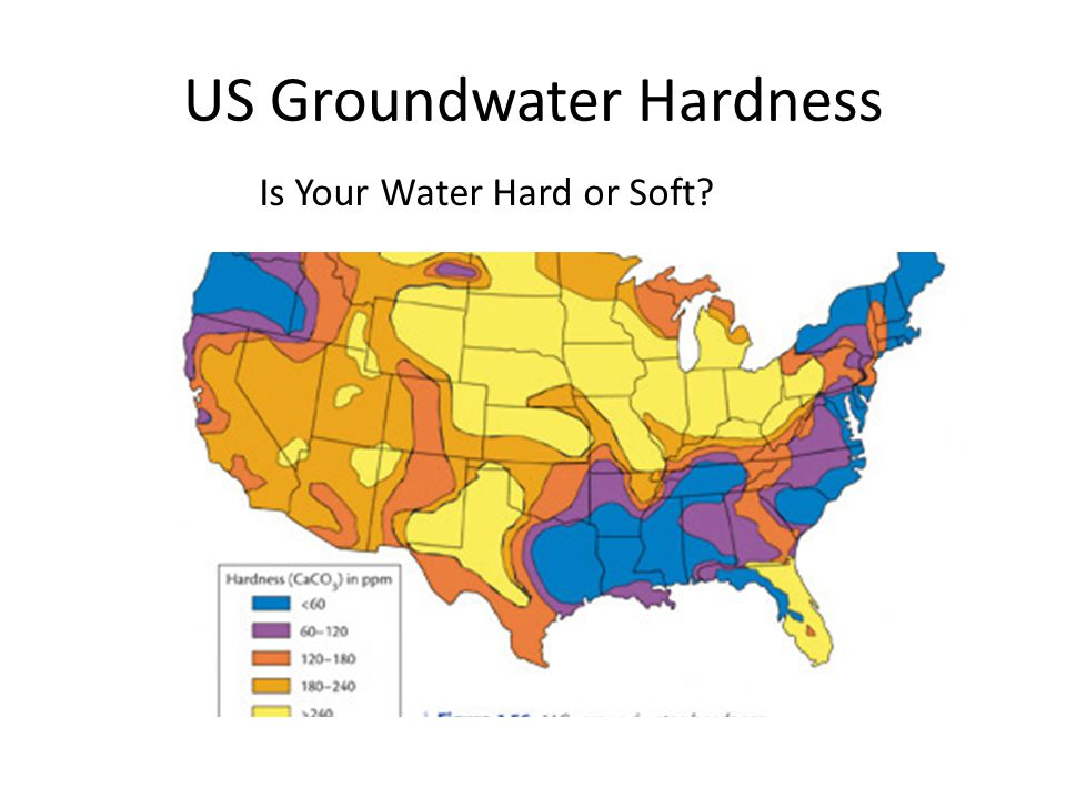US Groundwater Hardness