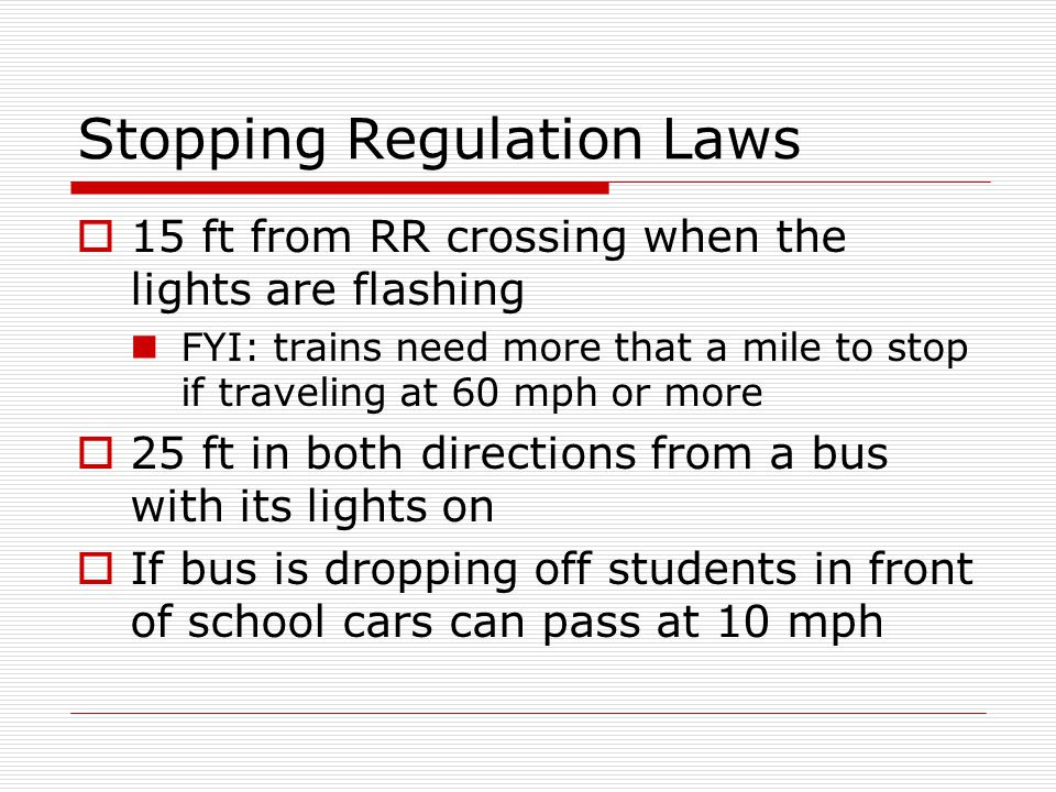Stopping Regulation Laws