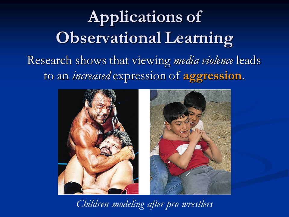 Applications of Observational Learning