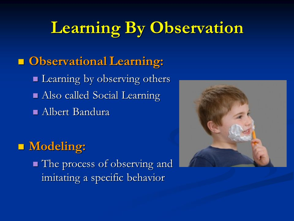Learning By Observation