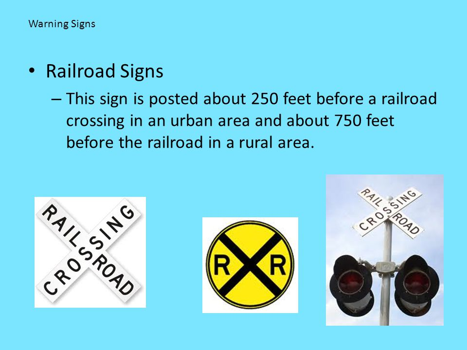 Warning Signs Railroad Signs.