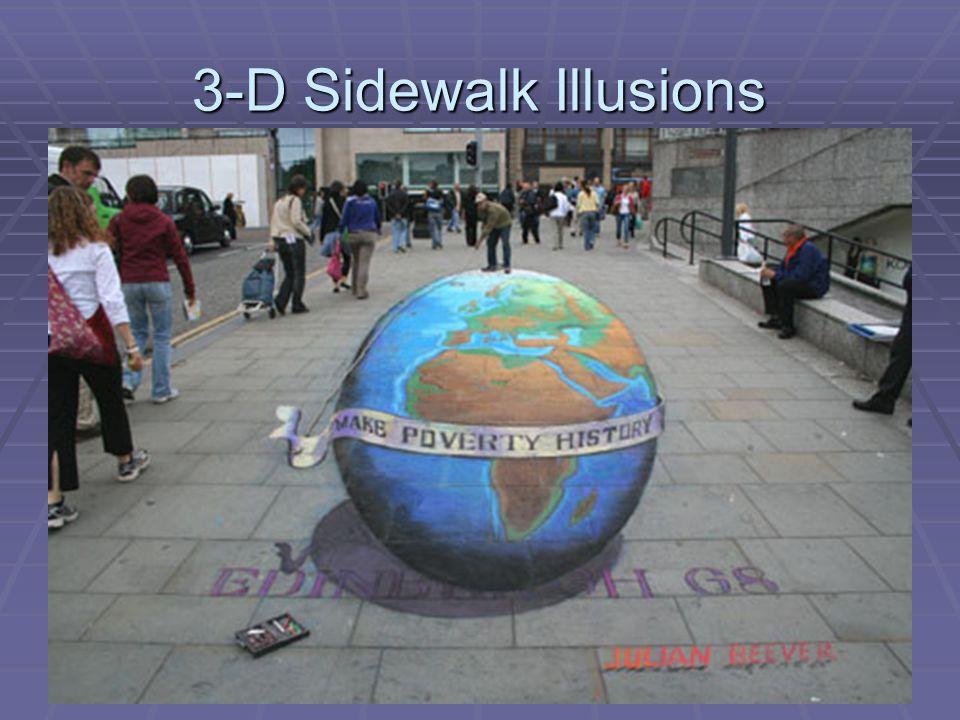 3-D Sidewalk Illusions