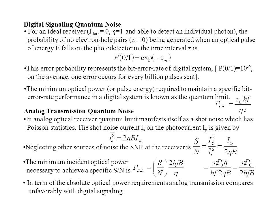 Digital Signaling Quantum Noise