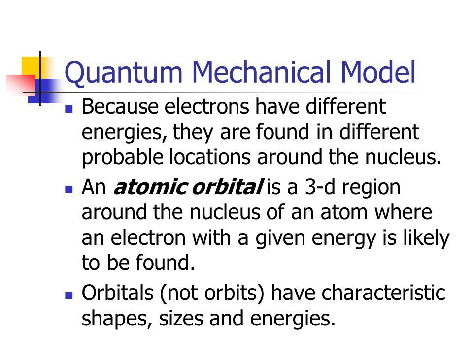 Quantum Mechanical Model