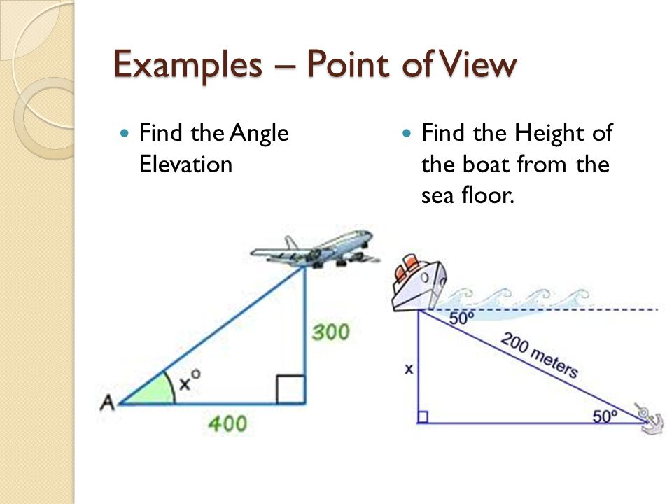 Examples – Point of View
