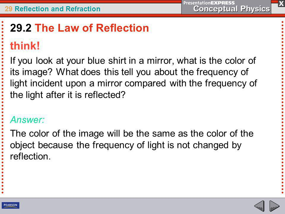29.2 The Law of Reflection think!