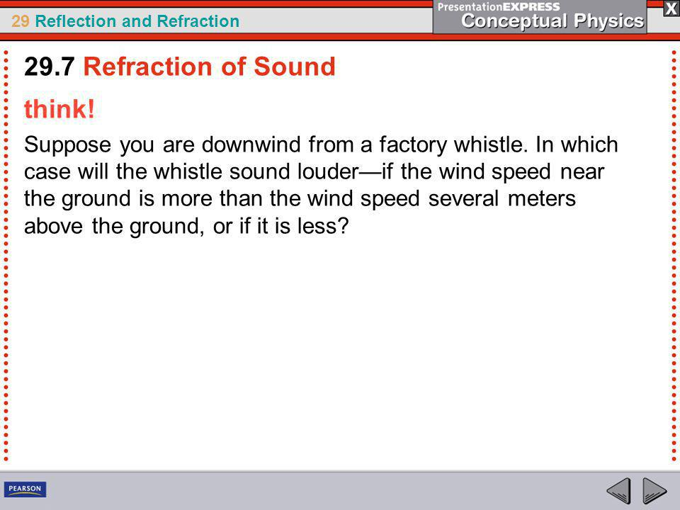29.7 Refraction of Sound think!