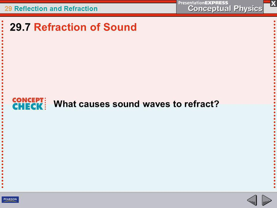 29.7 Refraction of Sound What causes sound waves to refract