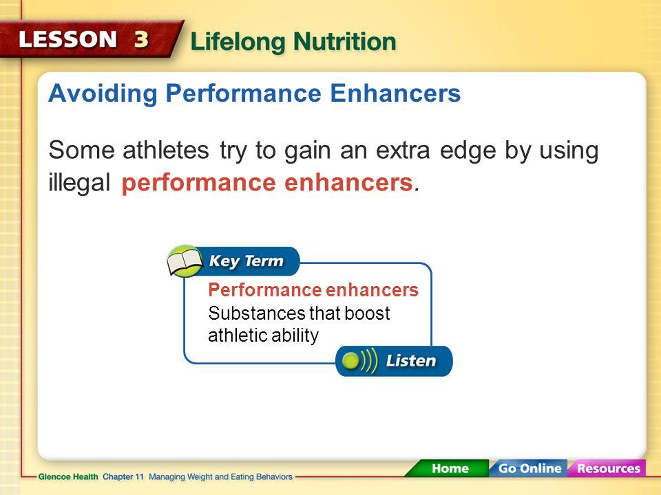 Avoiding Performance Enhancers