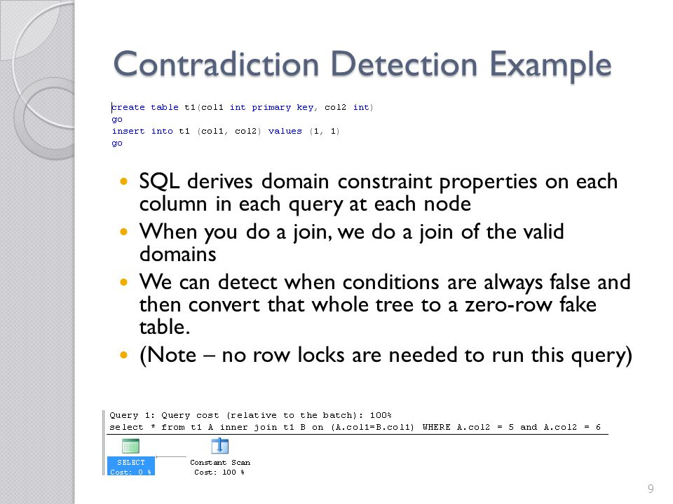 Contradiction Detection Example