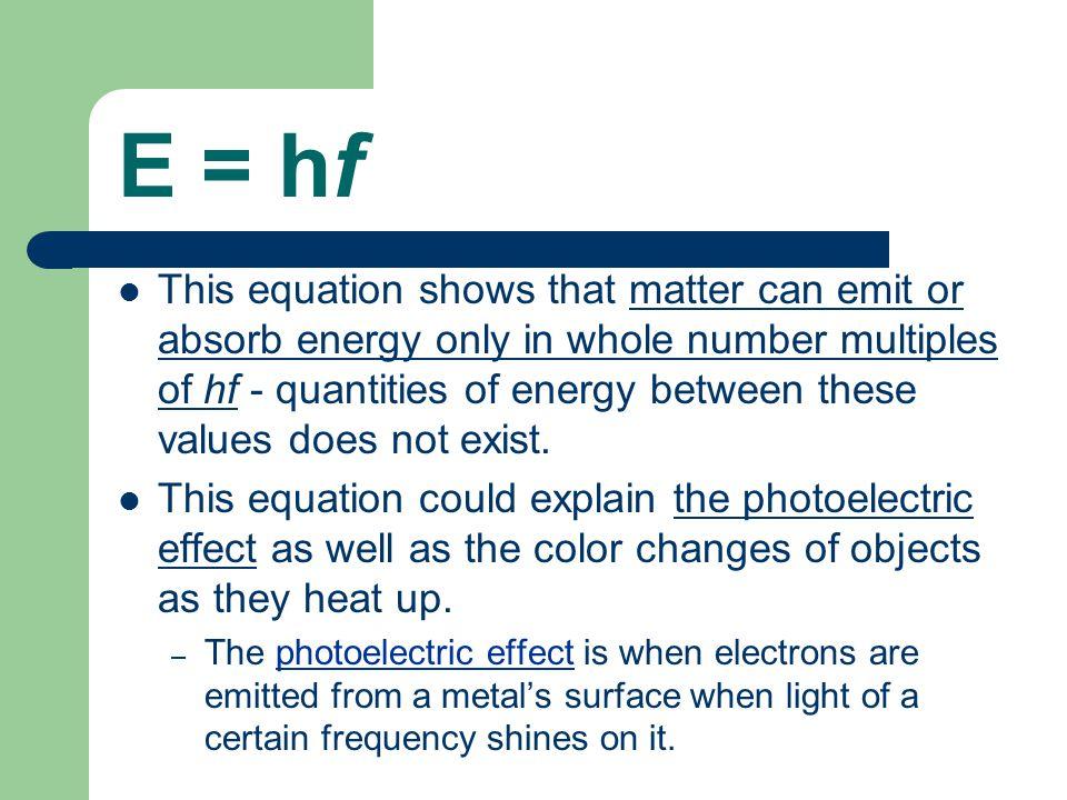 E = hf
