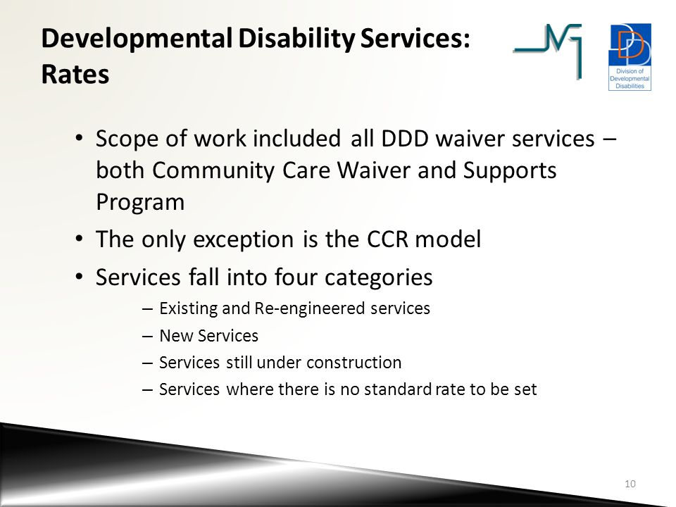 Developmental Disability Services: Rates