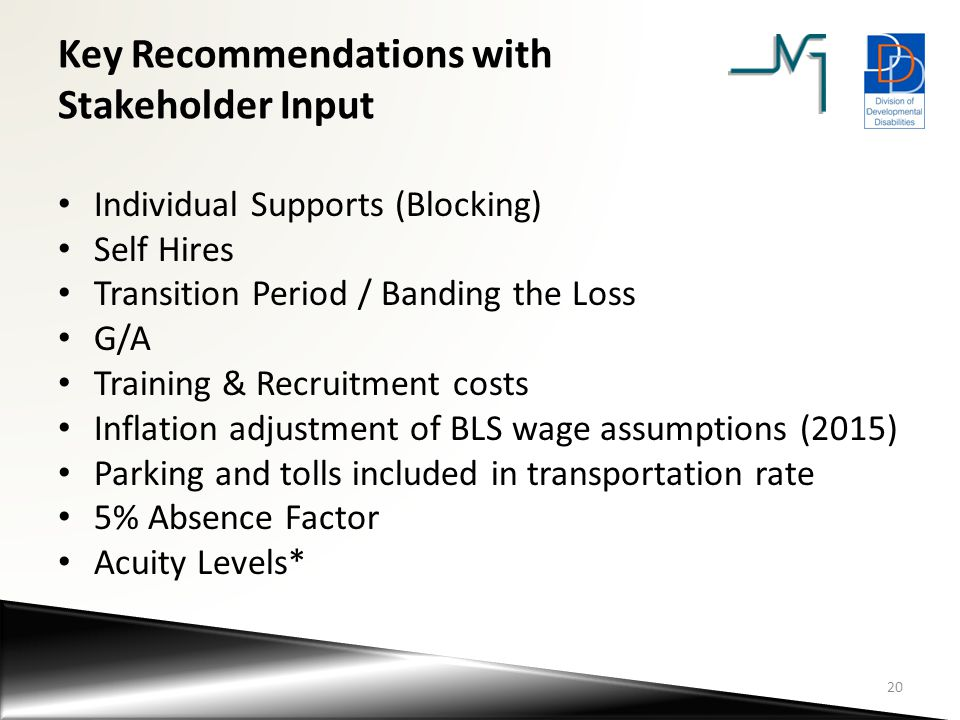 Key Recommendations with Stakeholder Input