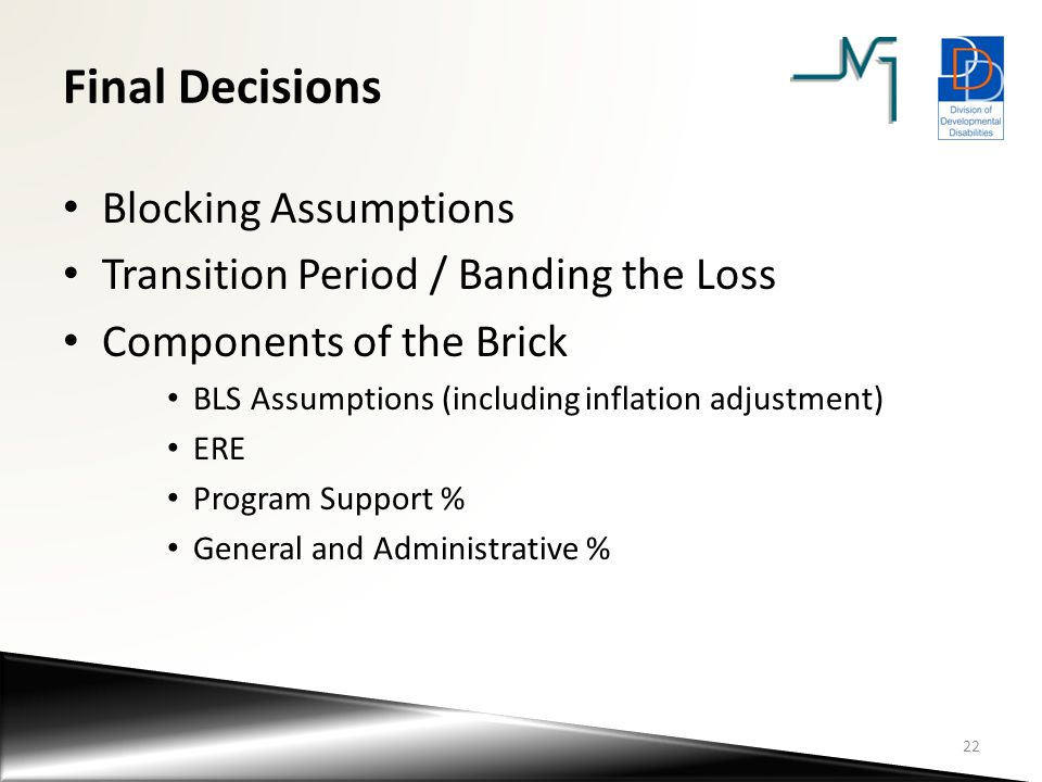 Final Decisions Blocking Assumptions