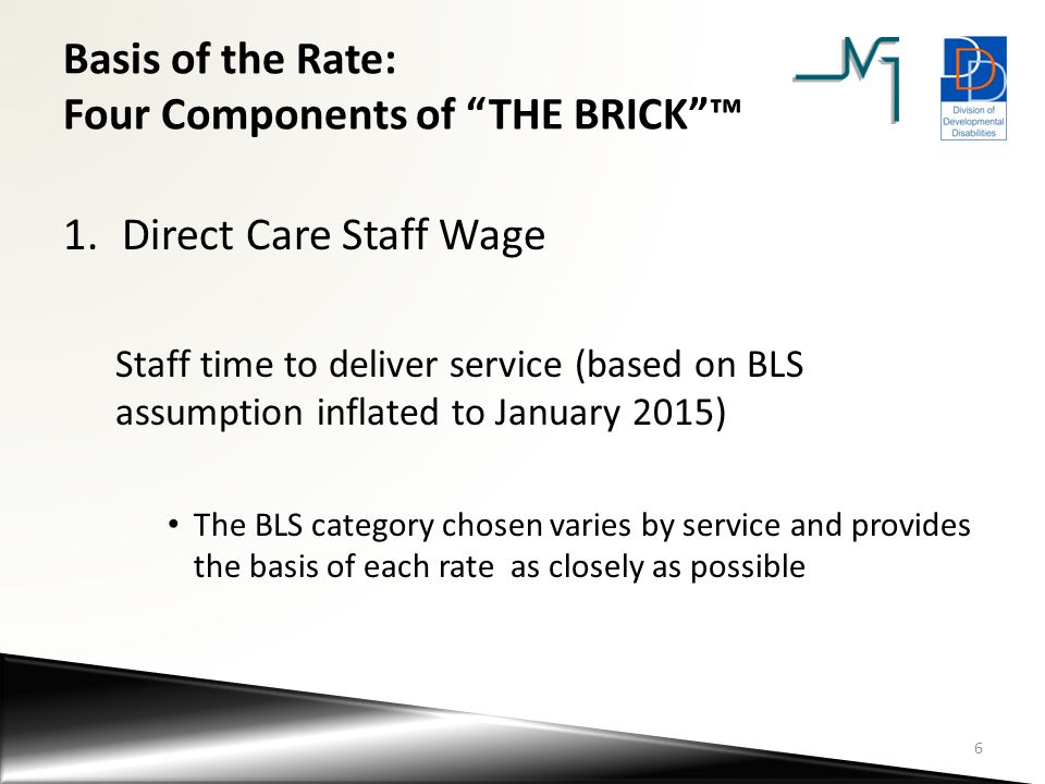 Basis of the Rate: Four Components of THE BRICK ™