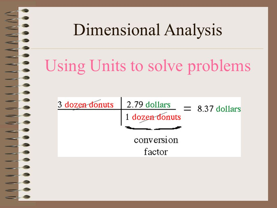 Using Units to solve problems