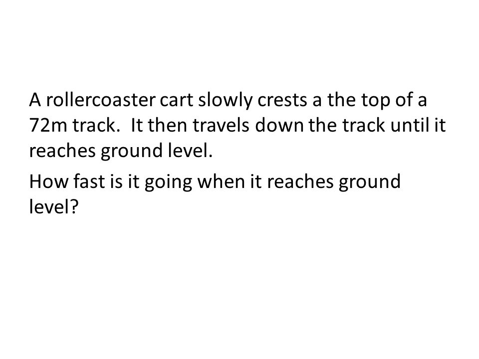 A rollercoaster cart slowly crests a the top of a 72m track