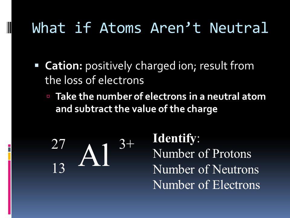 What if Atoms Aren't Neutral