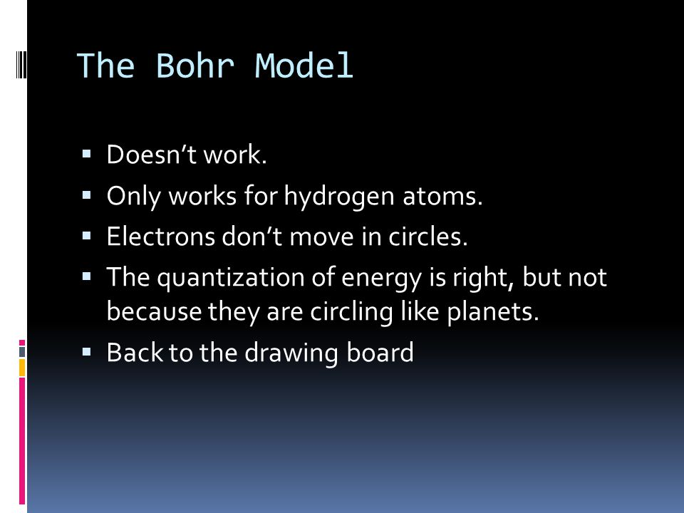 The Bohr Model Doesn't work. Only works for hydrogen atoms.