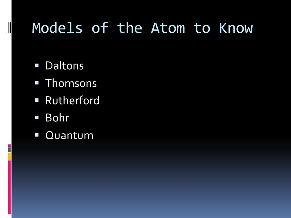 Models of the Atom to Know