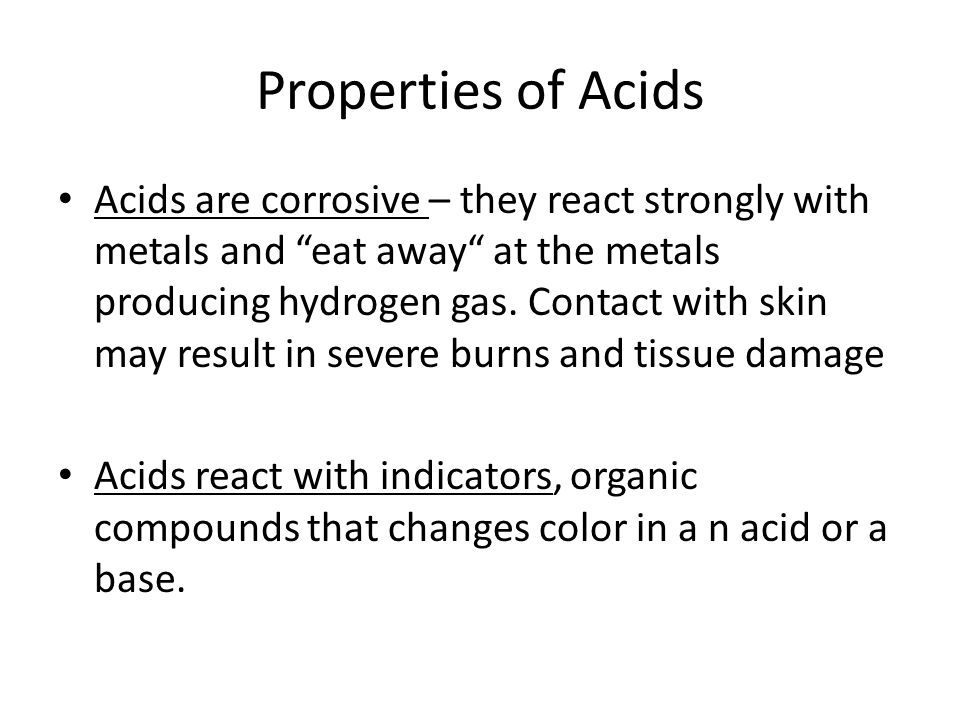 Properties of Acids