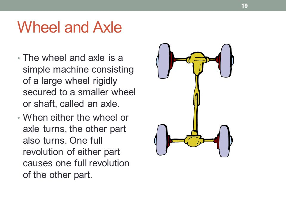simple machine wheel and axle