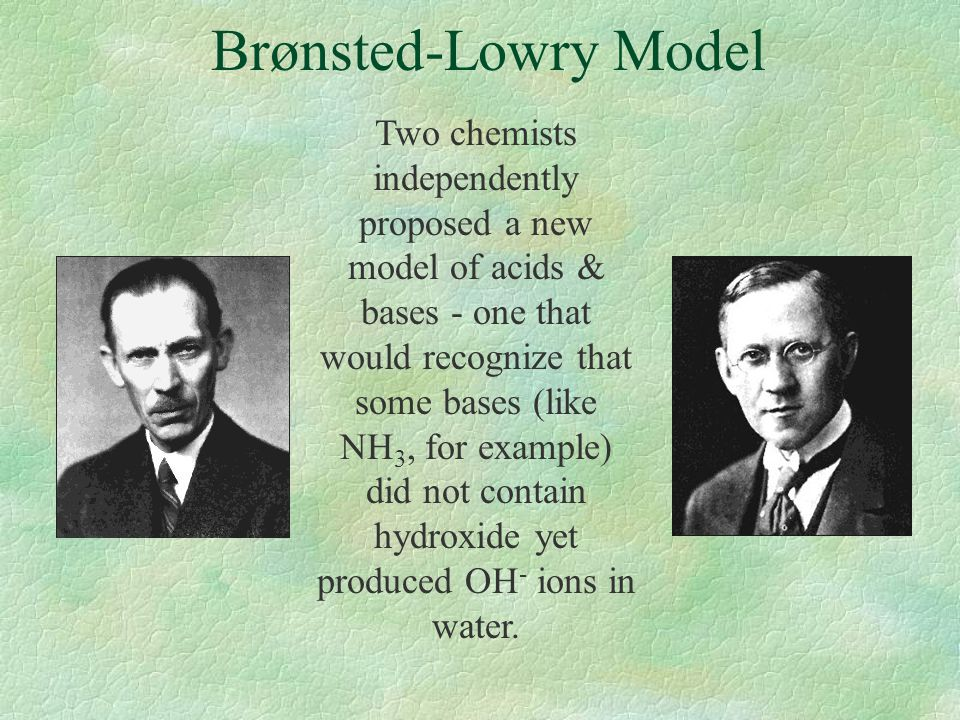 Brønsted-Lowry Model