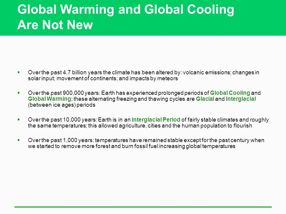 Global Warming and Global Cooling Are Not New