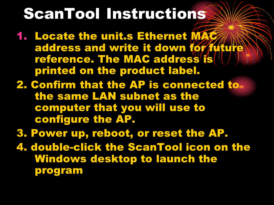 ScanTool Instructions