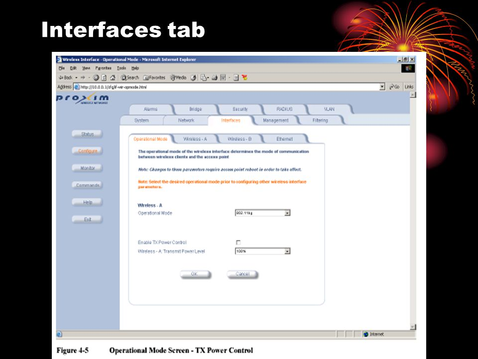 Interfaces tab