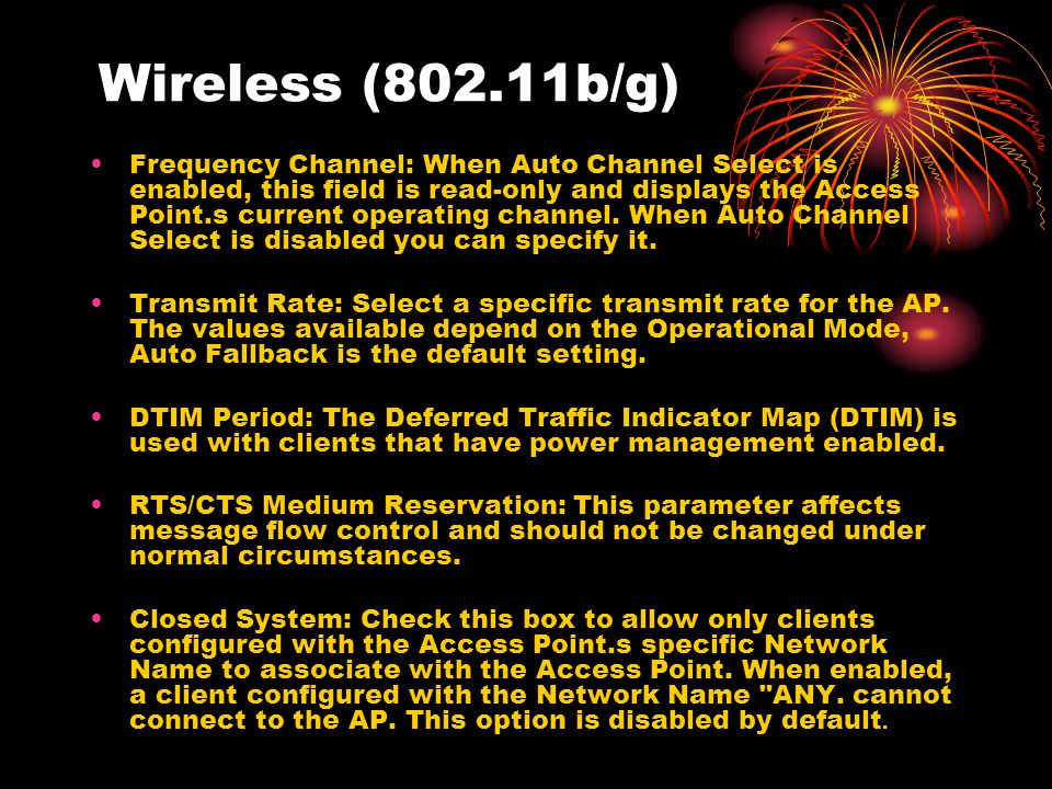 Wireless (802.11b/g)