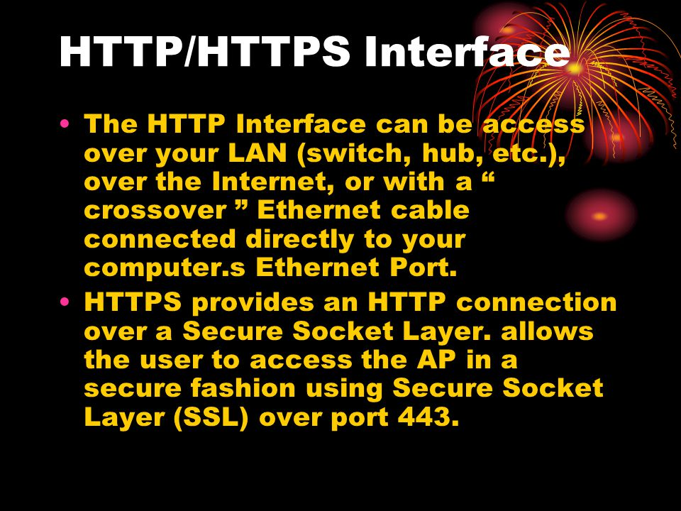 HTTP/HTTPS Interface