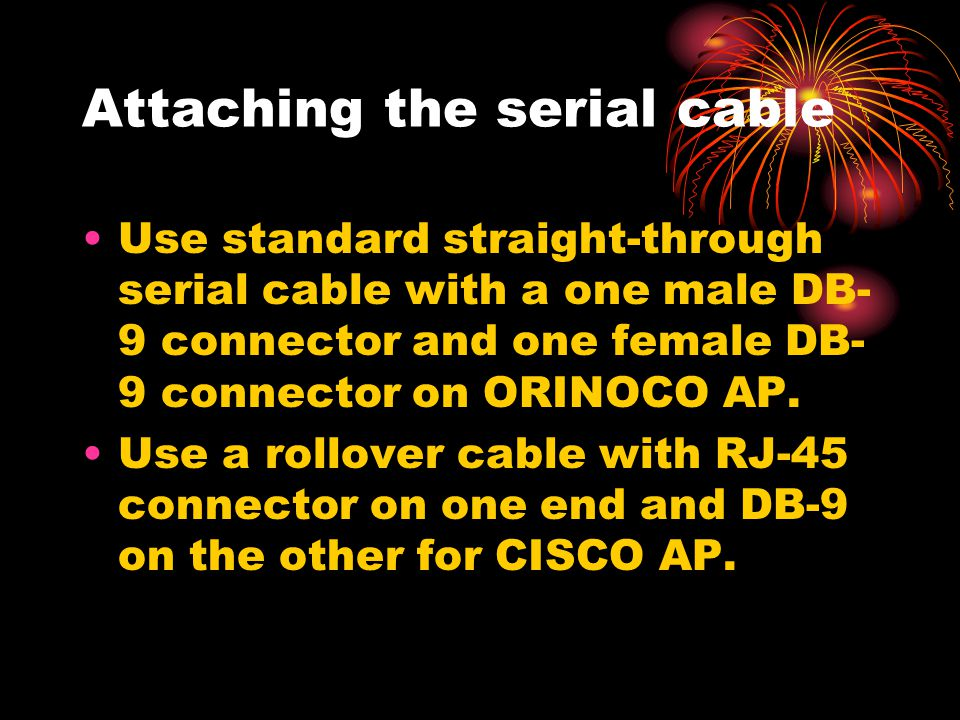 Attaching the serial cable