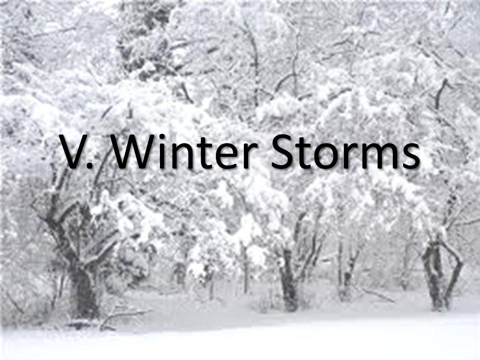 V. Winter Storms