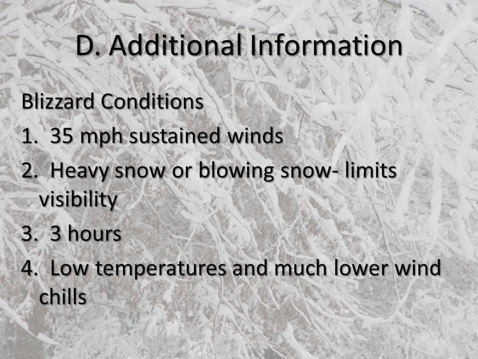D. Additional Information