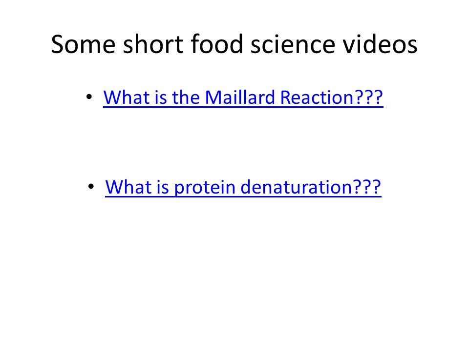 Some short food science videos