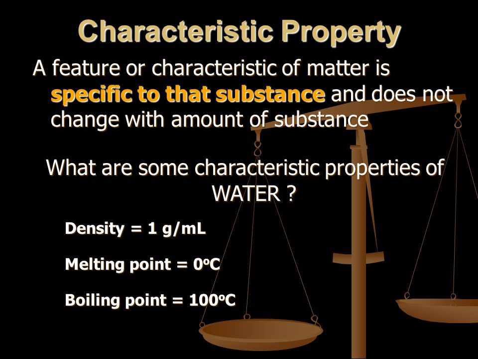 Characteristic Property