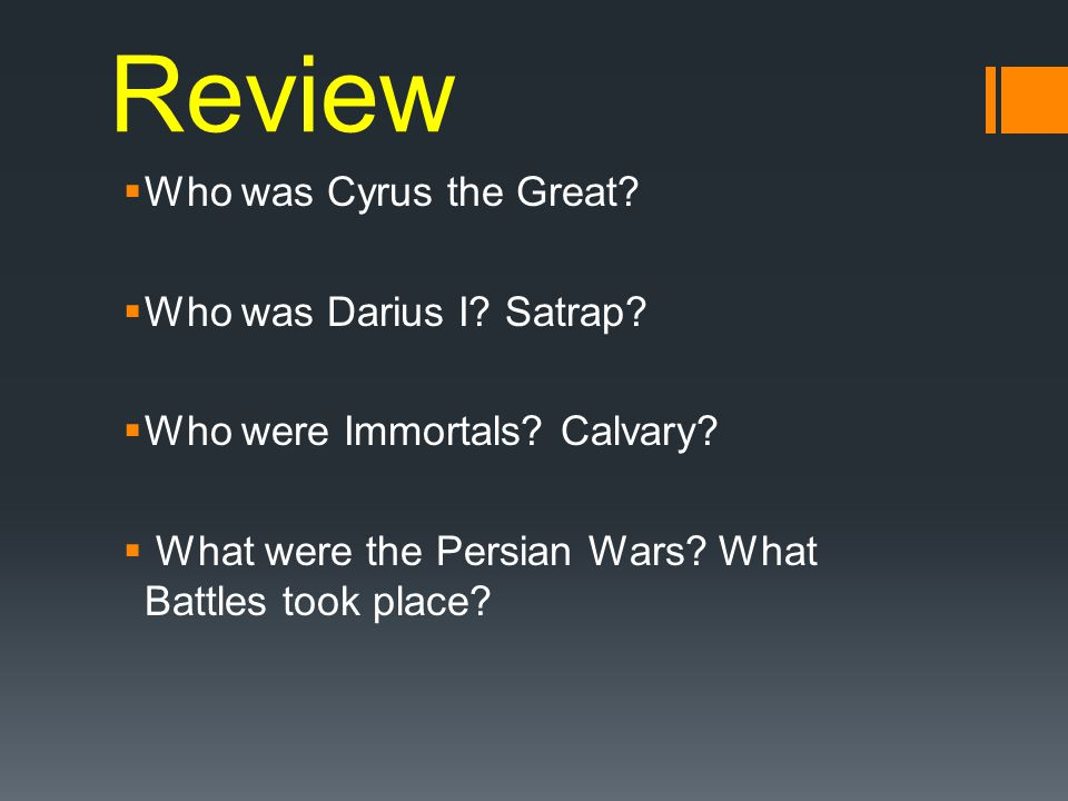 Review Who was Cyrus the Great Who was Darius I Satrap