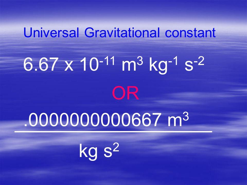 Universal Gravitational constant