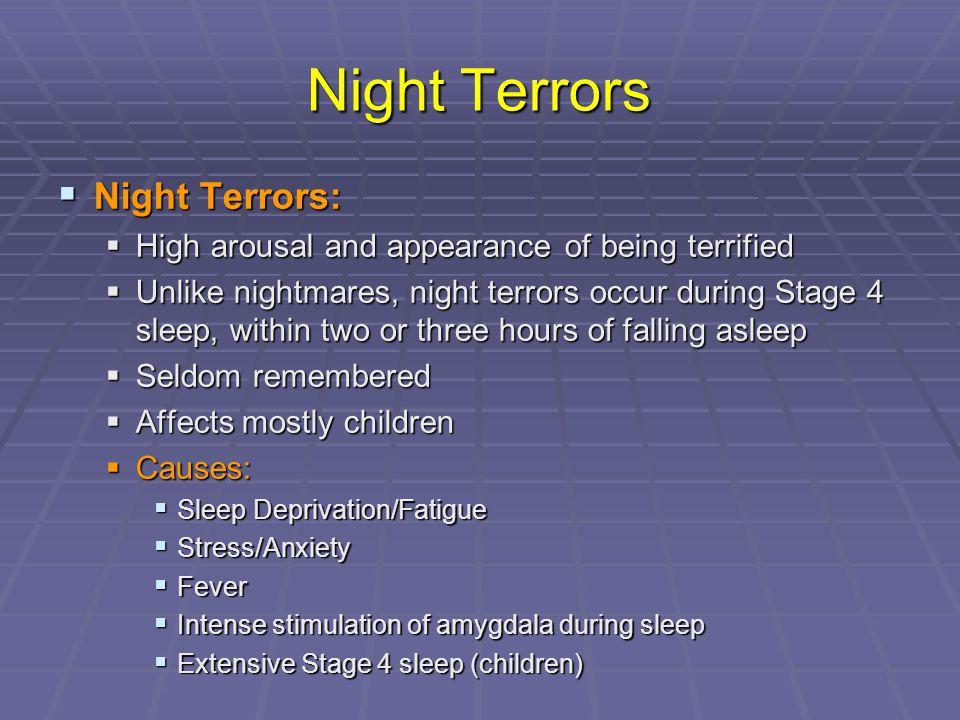 Night Terrors Night Terrors: