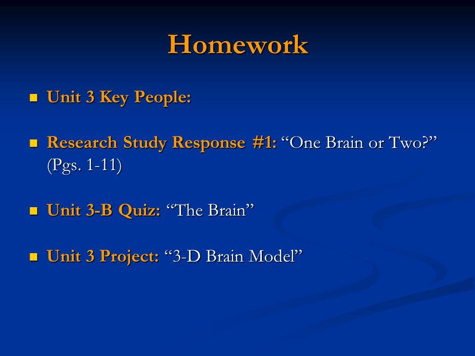 Homework Unit 3 Key People: