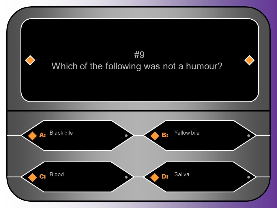 Which of the following was not a humour