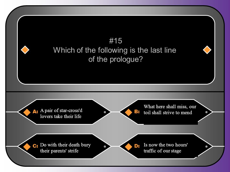 Which of the following is the last line