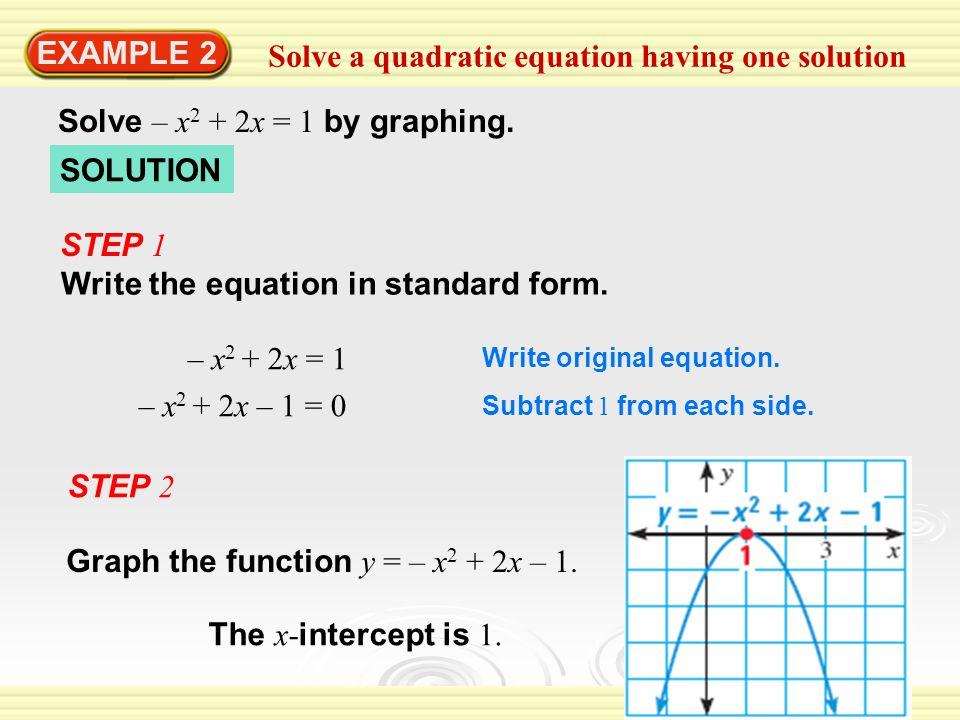 Solve a quadratic equation having one solution