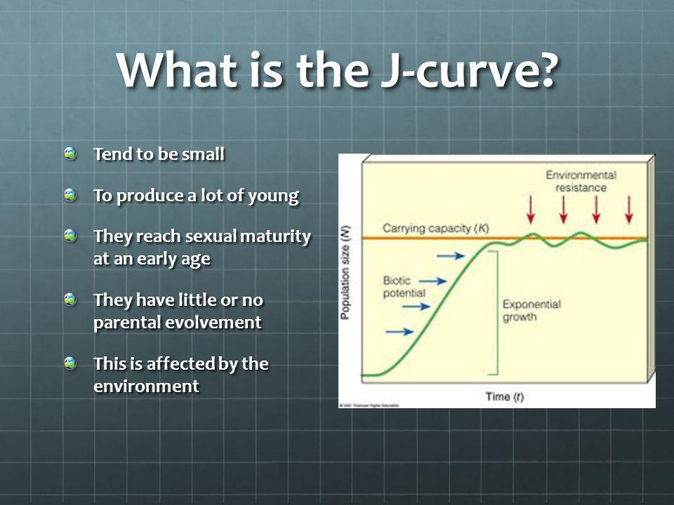 What is the J-curve Tend to be small To produce a lot of young