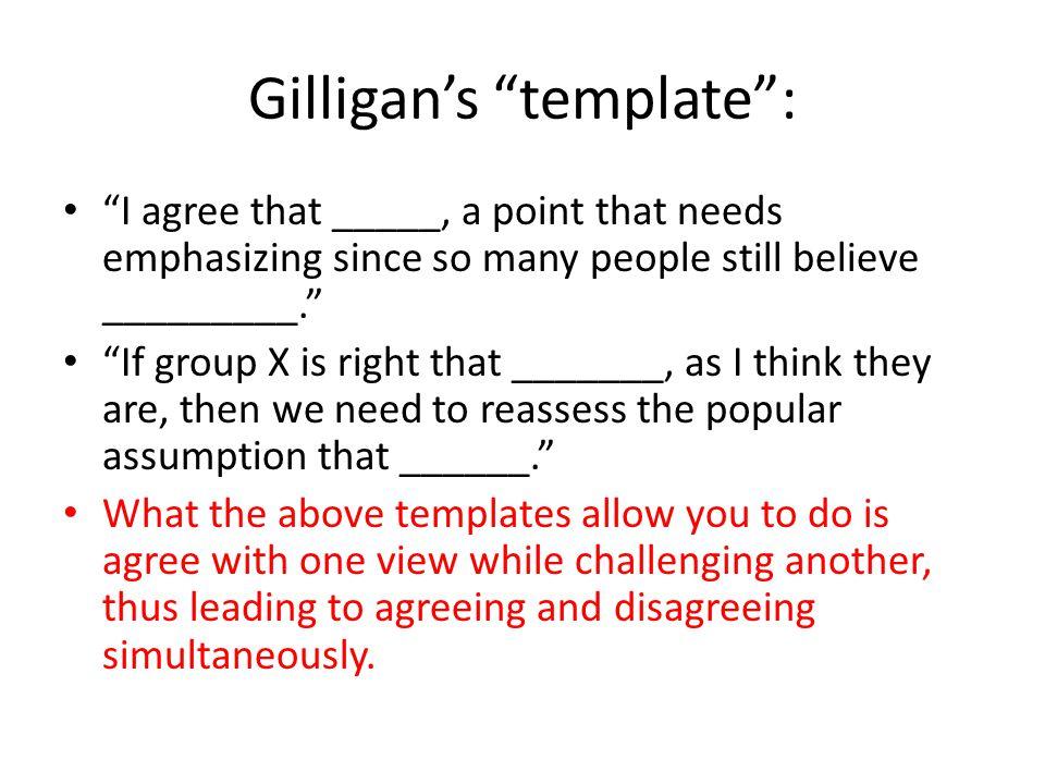 Gilligan's template :